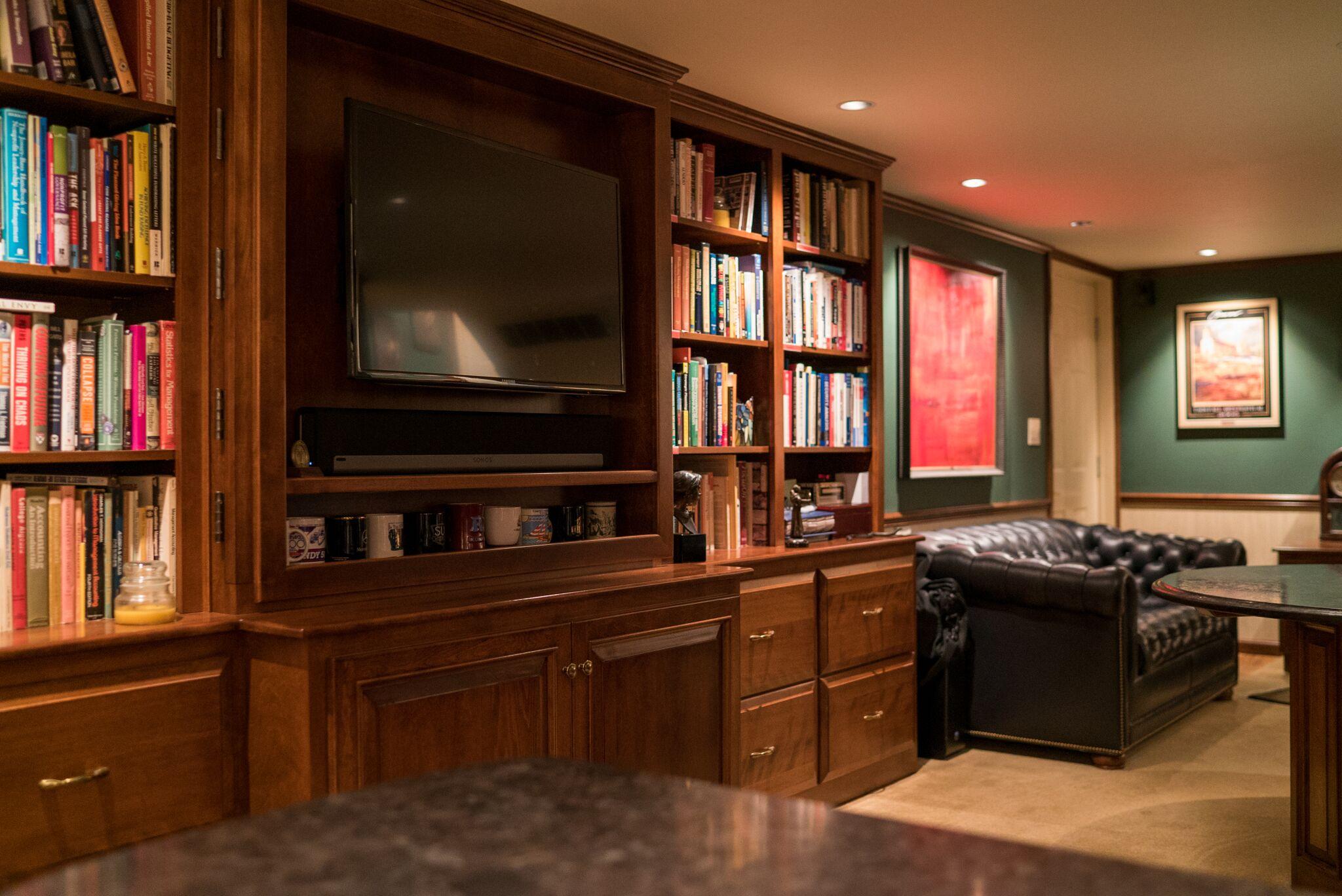 Custom Bookshelves For Home Office Custom Media Cabinet For Home Office  Cabinetry ...