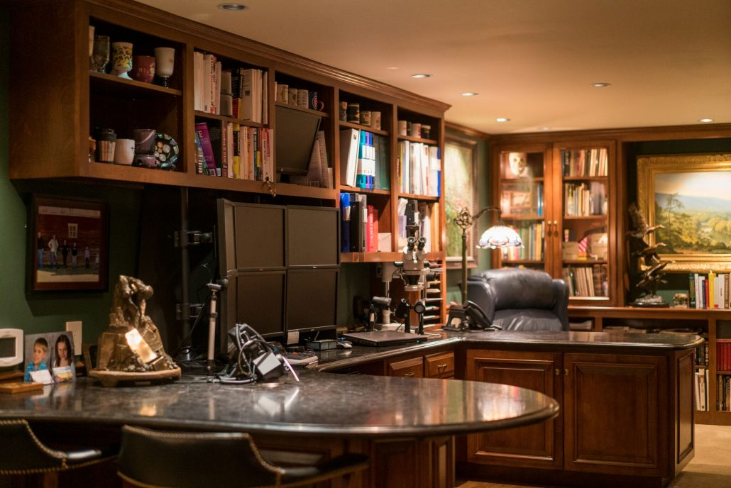 custom home office ... & Mill Cabinet Shop designs and builds beautiful custom office cabinetry.