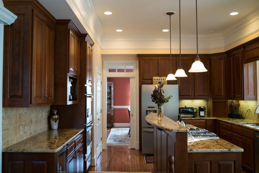 cherry kitchen custom cabinetry