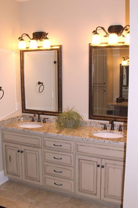 sophisticated custom bathroom cabinetry
