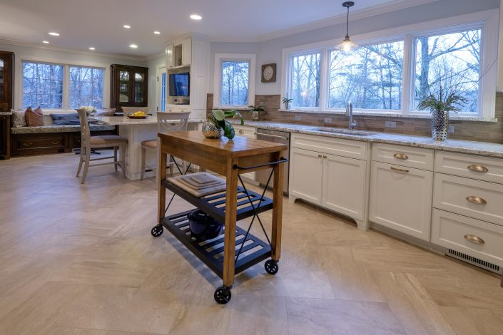 warm and open kitchen